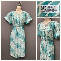 Vintage Retro Fink Modell Blue Mix Dress UK 18 EUR 44