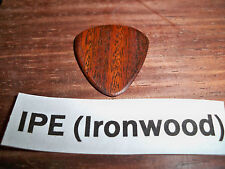 "Wood guitar pick ""Ipe Ironwood""  by RobinsonWood Picks"