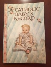 Vintage 1945 A Catholic Babys Record Used Hair Locks Pics for Crafts See photos