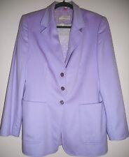 ESCADA Jacket Blazer Blouse Top Size 10 40 Purple Cashmere Cotton Polka Dot Set