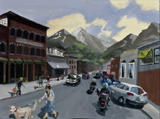Colorado St. Study - Gouache study for larger oil painting