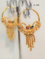 Gold Plated Small Ring Earring Just Plain Ring Good Quali Indian Bollywood Hoops