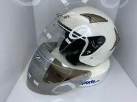 Motorcycle 3/4 Open Face Half Helmet Full Shield Visor  S, M L XL