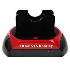 "2.5&"" 3.5&"" DUAL TWIN SATA IDE HDD Docking Station USB OTB Q3H3"