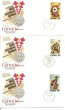 Canada SC # 684-686 Olympic Fine Arts And Cultural Program FDC. Kingswood