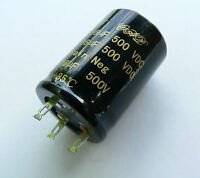 16+16uF 500V Twin Double Can Capacitor fr Valve Audio Guitar Amplifier Radiogram