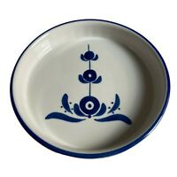 Viana Do Castelo Hand Painted by Jesus Souffle Dish Portugal Cobalt Blue White