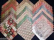 12x12 Scrapbook Paper Studio Cardstock Christmas Rustic Holiday Pine Square 40