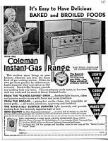 1935 small Print Ad of Coleman Lamp & Stove Co Instant Gas Range