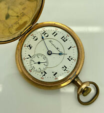 1920's HAMPDEN No. 308 17j Double-Roller 14K Gold Filled Full Hunter Pocketwatch