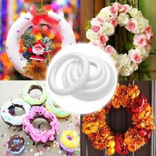 5Pcs Polystyrene Styrofoam Foam Ring Half Ring For Handmade Christmas Decoration