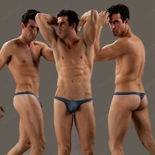 Men's Sexy Mesh G-string Thongs Underwear Gray Breathable T-back for Men size L