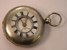 ORIGINAL 1872 JOHN BENNETT LONDON SILVER HALLMARK FUSEE DEMI-HUNTER POCKET WATCH