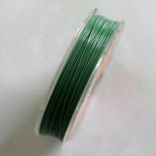 Fil Câblé  Vert Pré  25 mètres Ø 0,38 mm pour fabrication de bijoux en perles
