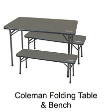 COLEMAN TABLE & BENCH PICNIC CAMPING CHAIR CAMP SEAT 1377569