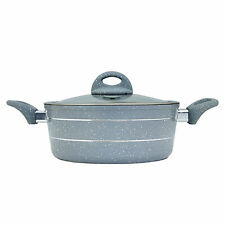 More details for large grey casserole 30 cm induction cooking pot with lid non stick kitchen dish