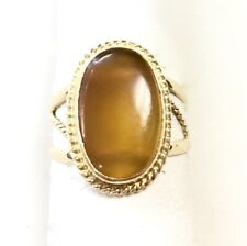 18k Yellow Gold Ring set with Carnelian Agate