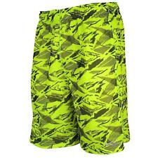 Nike Men's Mesh Printed Lacrosse Shorts (Sz Small) Volt 651614 702 $40.