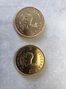 2 Krügerrand 1 oz Gold Jahrgang 1974