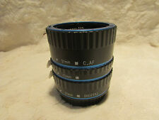 t  Blue AF TTL Macro Extension Tube Ring Set For Canon EOS EF EFS L 13 21 31mm
