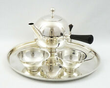 1937 Tea/Coffee 'Sphere' Art Deco Service in Solid Silver