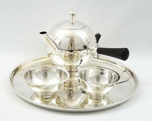 1937 Tea/Coffee 'Sphere' Art Deco Service in Solid Silver