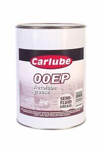 Carlube 00EP Autolube Semi Fluid Grease Lubricant 3kg