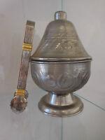 Azucarero Pinza Sugaring Metal Plateado Vintage Curiosity By Pn