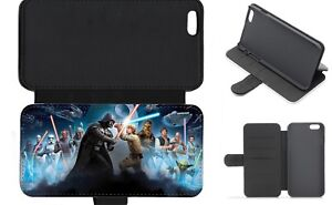 COMIC STAR WARS TEAM Wallet Flip Phone Case iPhone 4 5 6 7 8 9 10 X Galaxy (I)