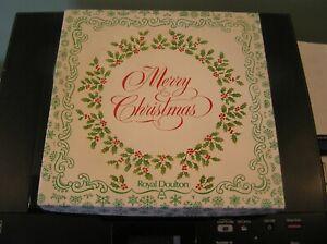 "AN ATTRACTIVE ROYAL DOULTON CHRISTMAS PLATE 1981: 8.25"" ACROSS: VGC & BOXED"