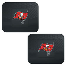 NFL Tampa Bay Buccaneers Car Truck 2 Back Utility All Weather Rubber Floor Mats