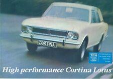 Ford Cortina Lotus Mk 2 1967-68 Original UK Sales Brochure Pub No 291553