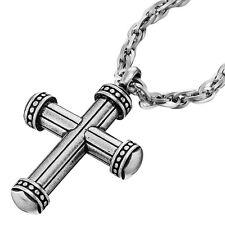 POLICE Herren Collier Kreuz BEAD Edelstahl Silber 70 cm PJ25443PSS-02