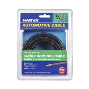 Narva 7m 100 Amp Black Battery And Starter Cable
