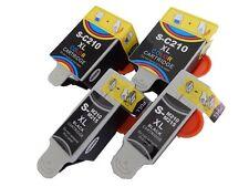 4x Cartouche encre noir couleur pour Samsung CJX-1000 / CJX-1050 / CJX-1050W