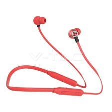 Wireless Sport Headset Bluetooth 500mAh Red Portable Sound Gym Walking UK Seller