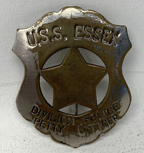 USS ESSEX Division Police Petty Officer Badge UNITED STATES NAVY WW2 WWII