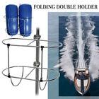 304 Stainless Steel Folding Double Fender Holder Rack for 9-1/2inch Boat Fenders