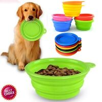 Puppy Dog Cat Silicone Collapsible Feeding Bowl Water Food Feeder Travel Dish