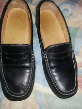 Women's Cole Haan Penny Loafer shoes Black Leather Flat Size 6-1/2 medium