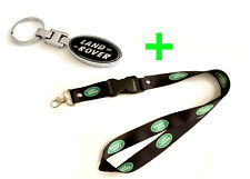 2 in 1 Combo Package LAND ROVER Lanyard and Key Chain Keychain Black