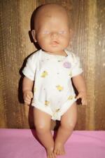 "Zapf Baby Born creations unisex doll nude eyes pink 17"" hard body"