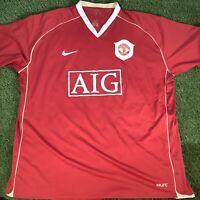XXL 2006 Manchester United AIG Nike Shirt - VTG Retro Top - Ronaldo Rooney
