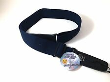 lock-IT Guitar strap Navy Blue Cotton Patented Locking Technology (strap lock)