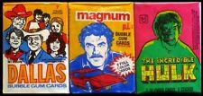 Donruss Dallas, Donruss Magnum P.I., Topps The Incredible Hulk - Wax Packs