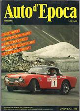 2/1990 AUTO D'EPOCA - BMW 1600 GT COPPA ACERBO LANCIA BETA MONTECARLO VERITAS