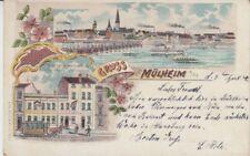 Ansichtskarte Nordrhein Westfalen  Mülheim  Restauration Vater Rhein Straßenbahn