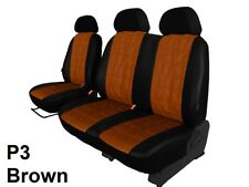 RENAULT TRAFIC 2+1 2001-2014 ECO LEATHER SEAT COVERS EMBOSSED MADE TO MEASURE