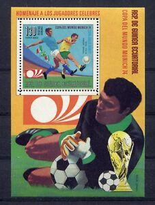 S5153) Guinea Ecuatorial 1974 MNH Wc Football -coppa World Cup Football S/S