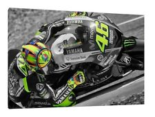 Valentino Rossi LARGE 30X20 Inch Canvas - Yamaha Framed Picture Poster